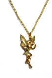 Cheapest Rosevette Fairies Swarovski Crystal Long Necklace Gold Online
