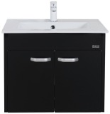 Rubine Bow Bathroom Basin With 60Cm Cabinet Black Rbf1064D2 Bk Singapore