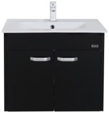 Rubine Bow Bathroom Basin With 60Cm Cabinet Black Rbf1064D2 Bk Best Price