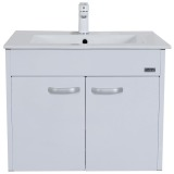 Shop For Rubine Bow Bathroom Basin With 60Cm Cabinet White Rbf1064D2 Wh