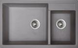 Best Rubine Cyq860 80L Crystal Kitchen Granite Sink Light Grey