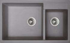Rubine Cyq860 80L Crystal Kitchen Granite Sink Light Grey Free Shipping