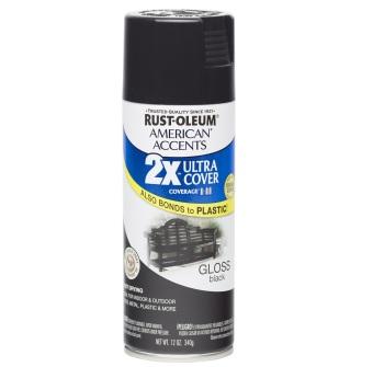 Rust-Oleum Ultra Cover 2X Spray Paint 12oz (Gloss Black)