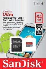 Price Sandisk Ultra Microsdxc Class 10 64Gb Sdsqunc 064G Gn6Ma 80Mb S Sandisk Online