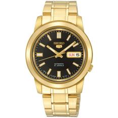 Sale Seiko 5 Men S Gold Stainless Steel Strap Watch Snkk22K1 On Singapore