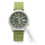 Low Price Seiko 5 Snk805K2 Automatic Military Green Nylon Strap Analog Men S Watch