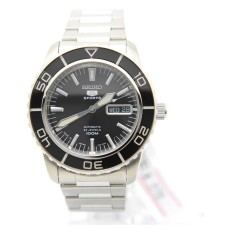 Seiko 5 Sport SNZH55J1 Automatic Japan Black Dial Stainess Steel Analog Watch