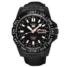 Seiko 5 Sports Japanese Men's Leather Strap Watch SRP723J1