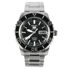 Compare Made In Japan Seiko 5 Sports Automatic Mens Watch In Black Dial Silver Index Snzh55J Snzh55