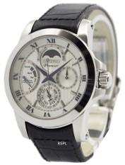 Best Price Luxury Watch Seiko Premier Kinetic Direct Drive Men S Black Leather Strap Watch Srx011P2