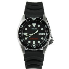 Seiko Divers Automatic Blacke Dial Black Rubber Men S Watch Skx013K1 Best Buy