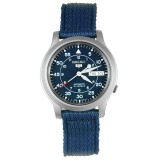 Buy Seiko 5 Snk807K2 Men S Blue Nylon Fabric Band Military Automatic Watch Cheap On Singapore