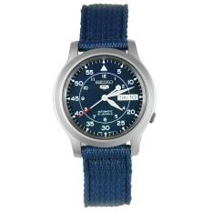 Seiko 5 SNK807K2 Men's Blue Nylon Fabric Band Military Automatic Watch