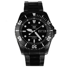 Wholesale Seiko Automatic Divers 23 Jewels 100M Japan Made Men S Black Stainless Steel Strap Watch Snzf21J1