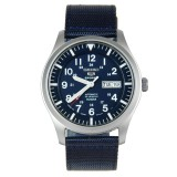Discount Seiko Sports Men S Navy Blue Leather Strap Watch Snzg11J1 Int One Size Singapore