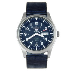 Top Rated Seiko 5 Sports Military Navy Blue Colour Automatic Mens Sports Watch With Day Date Feature Snzg11 Blue