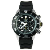 Seiko Solar Ssc021P1 Men Rubber Strap Black Dial Analog Chronograph Watch Multicolor Sale