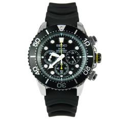Buy Seiko Solar Ssc021P1 Men Rubber Strap Black Dial Analog Chronograph Watch Multicolor Online