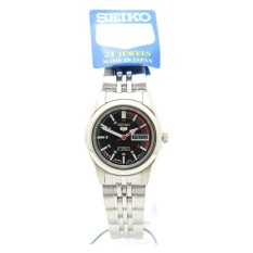 Seiko SYMA43J1 Ladies Analog Black Dial Stainless Steel Automatic Round Watch