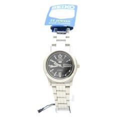 Seiko SYMJ33J1 Ladies Analog Black Dial Stainless Steel Automatic Round Watch