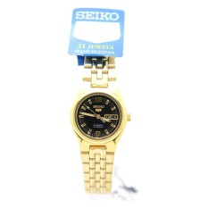 Seiko SYMK38J1 Ladies Analog Black Dial Stainless Steel Automatic Round Watch