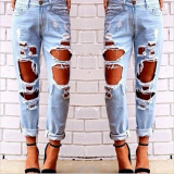 S*xy Women Destroyed Ripped Distressed Slim Jeans Shopping