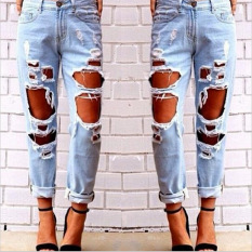 Buy S*xy Women Destroyed Ripped Distressed Slim Jeans