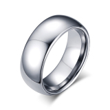 Buy Silver Simple Style Men Tungsten Rings For Men Wedding Band Size 7 To 13 Oem