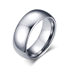 Brand New Silver Simple Style Men Tungsten Rings For Men Wedding Band Size 7 To 13