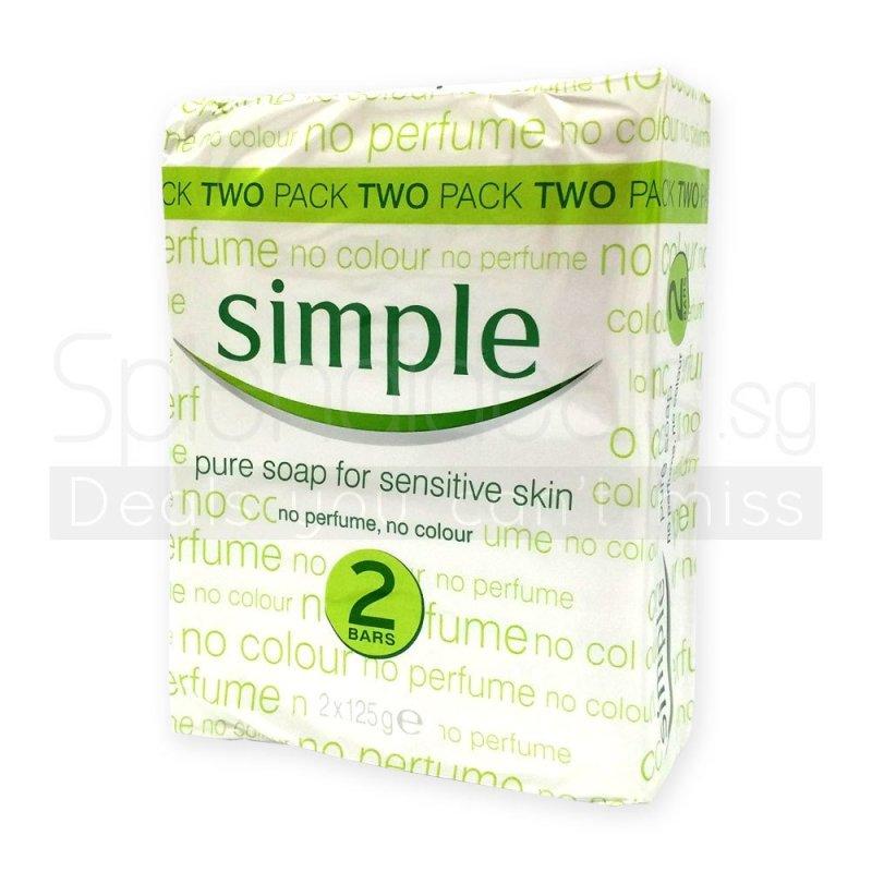 Buy (Pack of 24) SIMPLE Sensitive Skin Pure Soap 125g x 2 - 1068 Singapore