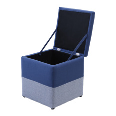 Blmg Single Two Tone Fabric Stool Blue Free Delivery In Stock