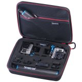Best Price Smatree Gopro Action Camera Smacase G260Sl Medium Large Black Red