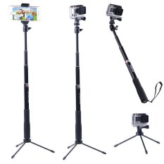 Discount Smatreea® Smapole Q3 Telescoping Pole Selfie Stick Folding 3 Legs Support Stand For Gopro Hero Hero4 Hero3 3 2 1 Hd Cameras And 1 4 Threaded Hole Compact Cameras And Cell Phones With Cell Phone Holder Tripod Mount Adapter Thumbscrew Singapore