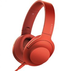 For Sale Sony Mdr 100Aap Headphones Hi Res H Ear On 40Mm Mic Red