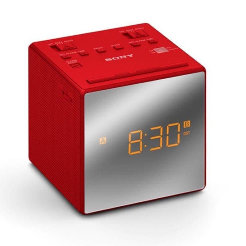 Sony Singapore ICF-C1T Radio Clock with dual alarm (Red) Singapore