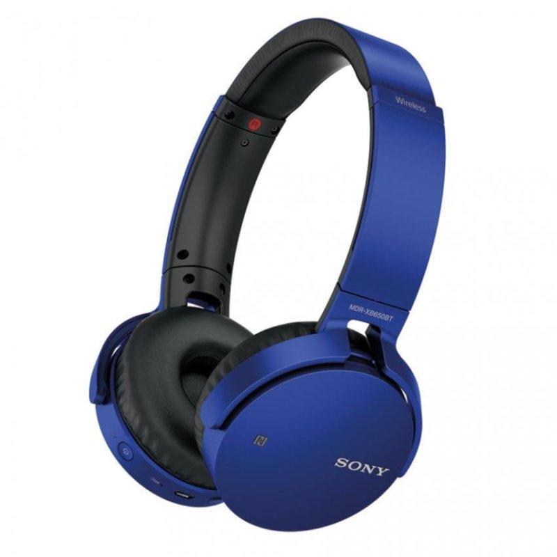 Sony Singapore MDR-XB650BT Extra Bass Over-The-Ear Headphone (Blue) Singapore