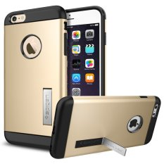 Compare Spigen Tpu Slim Armor Case For Iphone 6 6S Champagne Gold Prices