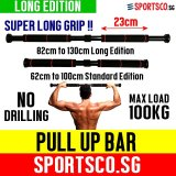Compare Price Sportsco Doorway Pull Chin Up Bar Long Edition 82 130 Cm Sg On Singapore