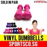 Sportsco Mini Vinyl Coated Dumbbell 1Kg Each Sold In Pair Pink Sg On Singapore