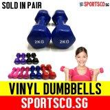 Discount Sportsco Mini Vinyl Coated Dumbbell 2Kg Each Sold In Pair Dark Blue Sg Sportsco