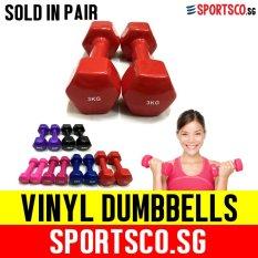 Price Sportsco Mini Vinyl Coated Dumbbell 3Kg Each Sold In Pair Red Sg Sportsco Online
