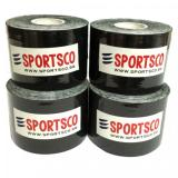 The Cheapest Sportsco Set Of 4 Kinesiology Sports Tape 5M X 5Cm Black Sg Online