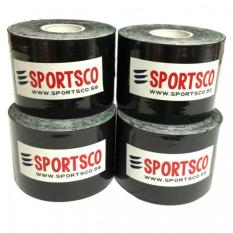 Compare Sportsco Set Of 4 Kinesiology Sports Tape 5M X 5Cm Black Sg