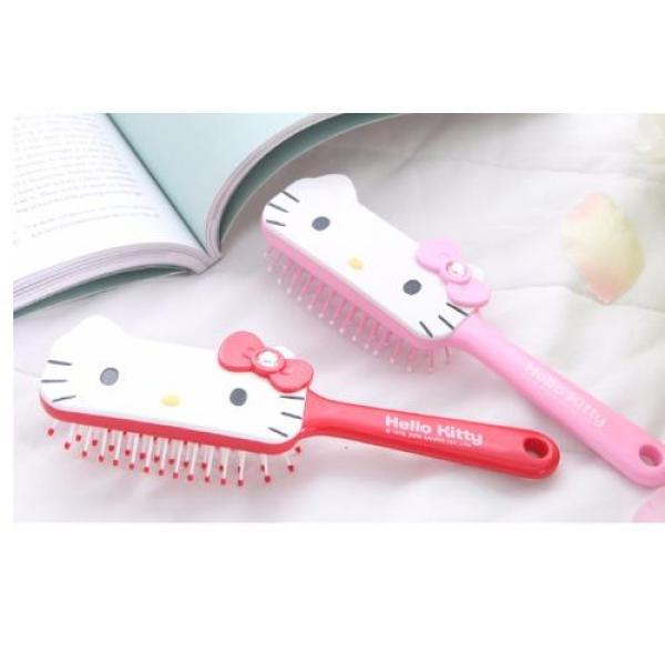 Buy Square Face of Hello Kitty, 3D Relief Cushion Comb - RED Singapore