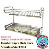 Sale Stainless Steel 304 Kitchen Double Layer Dish Rack Oem On Singapore