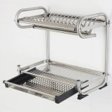 Great Deal Stainless Steel Dish Rack 2 In 1 45Cm