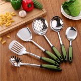 Sale Stainless Steel Kitchen Utensils Sets Seven Piece Sets Of Kitchen Utensils Cooking Shovel Spoon Surfacespoon Filter Spoon Rack Kitchen Supplies Oem Online
