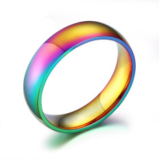 Stainless Steel Rainbow Ring For Men And Women Size 6 To 12 Intl For Sale