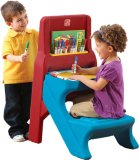 Review Step2 Art Easel Desk Blue Red Singapore