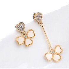 Stock Uneven Asymmetrical Earrings Stylish Personality G*Rl Accessories White Best Buy